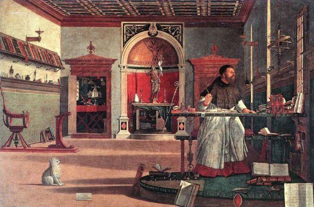 """Vittore Carpaccio """"La visión de Saint-Augustine"""""""