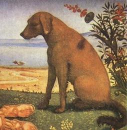 "Pierro di Cosimo ""Satyr y Ninfa"", fragmento"