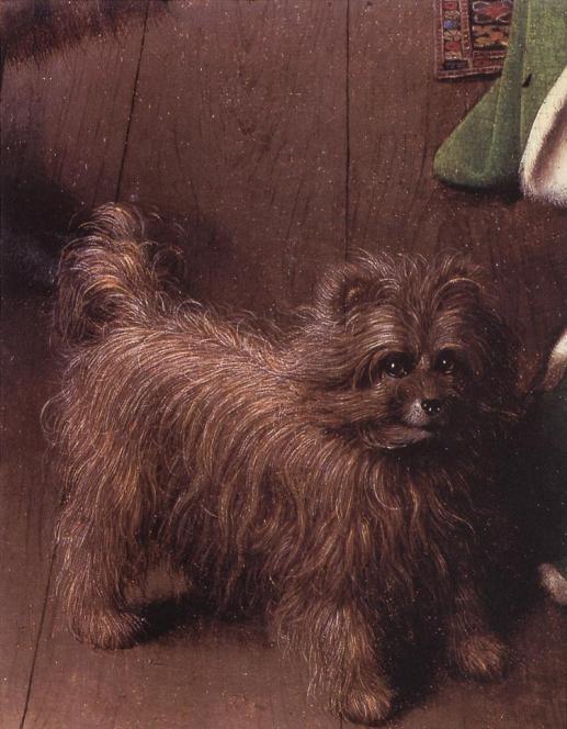 """Jan Van Eyck """"La boda de Arnolfini"""" 1434 Londres Galería Naciónal; Fragmento"""